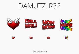 Emotes for twitch.tv/damutz_r32