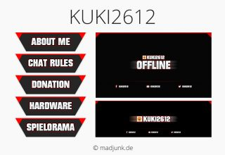 Kanaldesign for twitch.tv/kuki2612