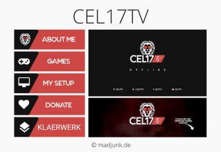 Kanaldesign for twitch.tv/cel17tv