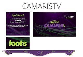Kanaldesign for twitch.tv/camaristv